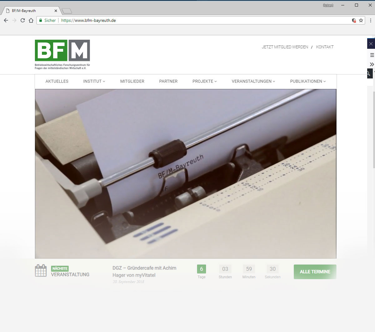 Braun Multimedia Videoproduktion - Headervideo für das BF/M