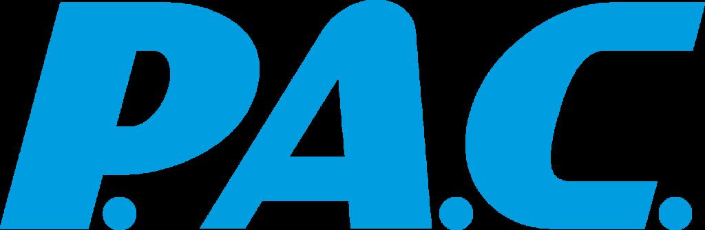 Logo der Firma P.A.C. für die Braun Multimedia - Die Agentur für Videoproduktion in Bayreuth ein Firmenvideo erstellt hat